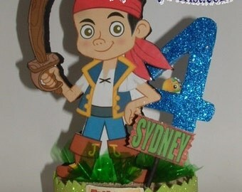 JAKE and the Neverland PIRATES 3D Centerpiece or use as a Cake Topper! Choose  Jake, Cubby, or Izzy