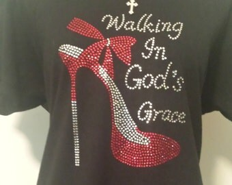 Walking In God's Grace Rhinestone T-Shirt