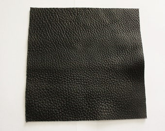 "12""x12"" Black Leather Pebble Grain Soft Cowhide 2.5mm 6oz thick TOP QUALITY"