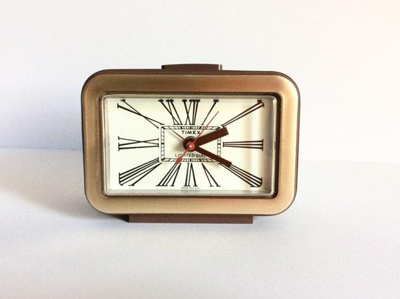 Vintage Timex Lighted Dial Alarm Clock Electric Bedside