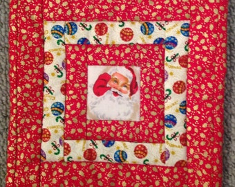 Christmas Fabric Pot Holder