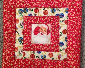 Christmas Fabric Pot Holder