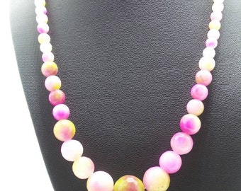 Kunzite Beaded Necklace.