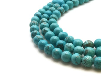 6mm Natural Turquoise Beads Round 6mm Turquoise 6mm Turquoise Beads 6mm Blue Beads 6mm Turquoise Strand Turquoise Blue Strand Blue