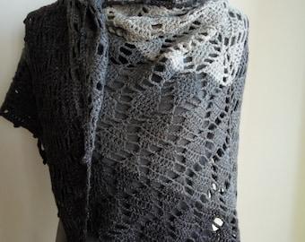 Shawl - wool scarf handmade