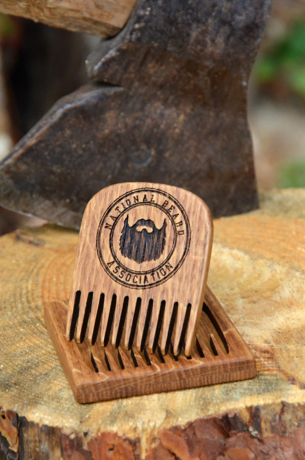 wooden engarved beard comb personalized gift mustache hair. Black Bedroom Furniture Sets. Home Design Ideas
