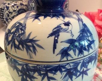 blue and white porcelain ginger jar
