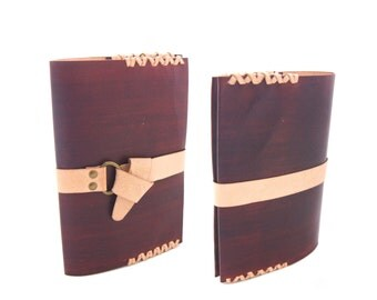 Refillable Personalised Leather Journal - Kangaroo Leather Sketchbook Journal - Removable Closure - Refillable Leather Notebook Journal