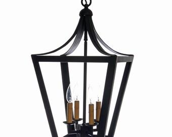 Wrought Iron Pagoda Style Lantern