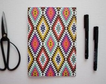 aztec sketchbook, aztec notebook, lined journal, aztec stationery, aztec stationary, tribal journal, travlers notebook, planner inserts