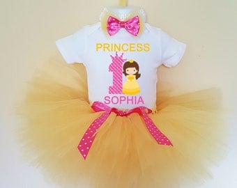 1st Birthday Outfit , Princess 1st Birthday Outfit , 1st Birthday Girl Outfit , Birthday tutu outfit , tutu