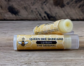 Lip Balm Gift Set - QUEEN BEE COLLECTION - Holiday Christmas Gift - Lip Embellishment Lip Butter Tube - Chapstick Skincare - Moisturizing