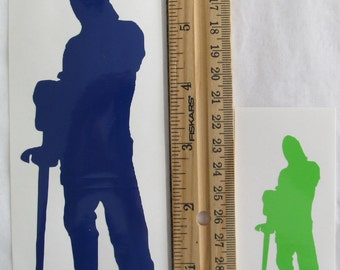 Vinyl Gamer RPG Car Window Decal Sticker Male Knight Warrior Armor with Sword Silhouette Role Playing Game Gaming D&D Dungeons Dragons