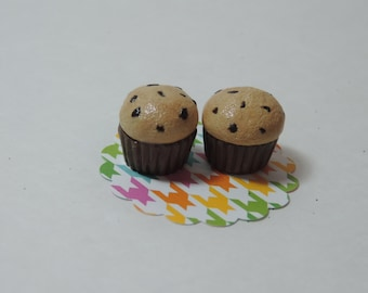 Set of Two Mini Chocolate Chip Muffins for American Girl dolls, Wellie Wishers