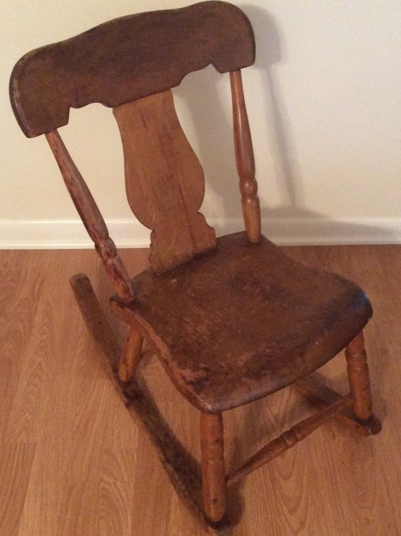 Like this item? - Antique Sewing Nursing Rocker Low Armless Wooden Victorian