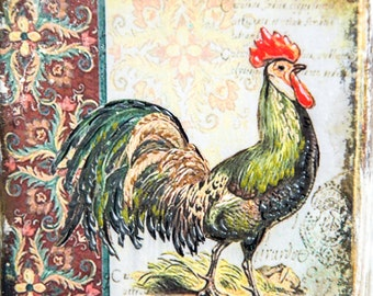 Rooster Kitchen Decor, Farmhouse Decor, Rustic Wall Decor, Rooster Decor, Country Rooster, Country Decor, Primitive Art, Farmhouse Kitchen,