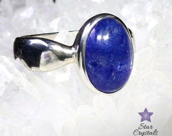 TANZANITE RING in Sterling Silver - Size 8 (Q)