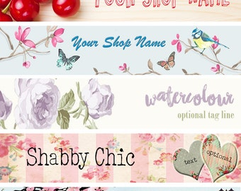 Shop Banner and Avatar/Profile. Custom Made for Your Business.