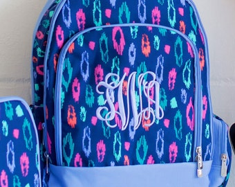 Laney Book Bag Monogrammed Bookbag Backpack Monogrammed Bookbag Personalized Bookbag