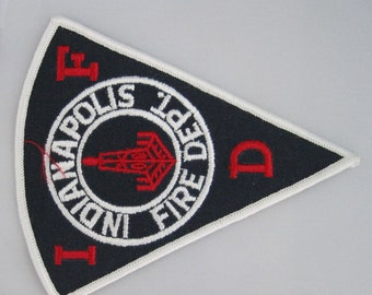 Indianapolis Fire Dept. Embroidered Sew On Patch, Embroidery Patch, Paramedic Patch, Applique, Embroidered Patch, Vintage Patch