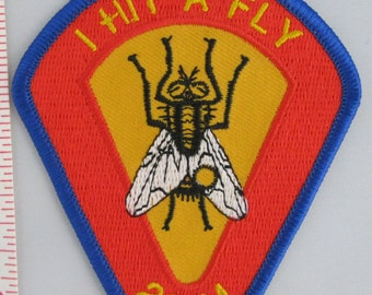 I Hit A Fly Sew On Patch, 200M Target Shooting Sew-On Patch, Embroidered Applique Patch, Vintage Sports Patch, Embroidered Patch