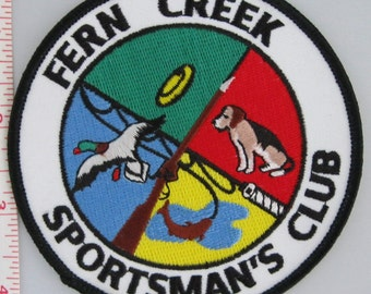 Fern Creek Sportsman's Club Sew On Patch, Target Shooting Sew-On Patch, Embroidered Applique Patch, Vintage Sports Patch, Embroidered Patch