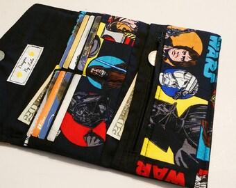 Women's Star War Tri fold Wallet with Zipper Pocket