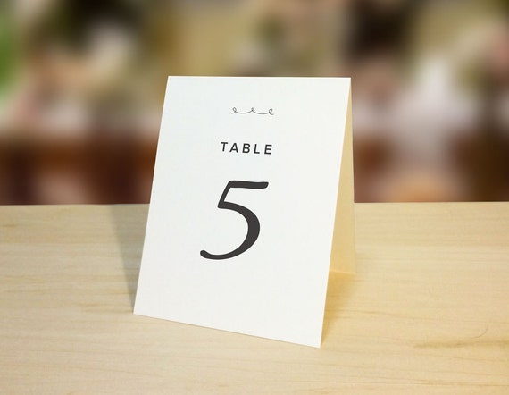 Table Number Tent Card Printable Download for Weddings 1-30 & Table Number Tent Card Printable Download for Weddings 1-30