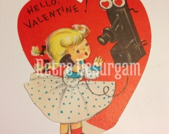 1940's Halmark Telephone Valentine's Day Card