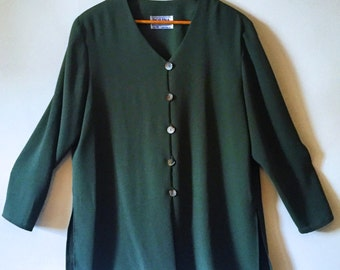 Plus Size 18 Vintage Green Tunic