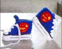 Super-Baby crochet shoes