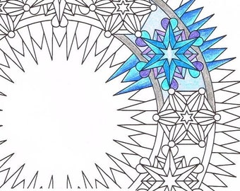 Mandala Coloring Page Flowers Of Summer For
