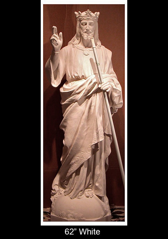 "Christ the King Jesus 62"" Fiberglass Catholic Christian Religious Statue"
