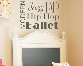 Dance Word Blurb Wall Decal