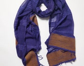 Hand-made in Ethiopia: The Leslassa Scarf in Midnight Blue