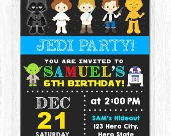 Star Wars Invitation, Star Wars Birthday Invitation, Star Wars Invite, Star Wars Birthday Invite