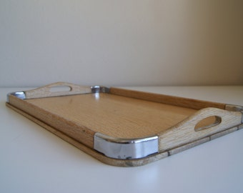 Gorgeous Mid-Century Blonde Wood Tray Made in Japan