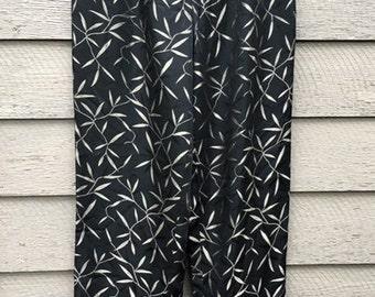 Dana Buchman Pants, Black Dress Pants, Long Pants, Slacks, Embroidered Leaves, Metallic Leaves, Fully Lined, Vintage Size 10