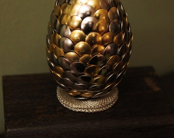 Handmade Dragon Egg with wooden casket - Gold Silver - Game of Thrones - Harry Potter - Lord of the Rings