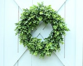 Boxwood Wreath ~ Faux Boxwood Wreath ~ Fixer Upper Decor ~ Year Round Wreath ~ Mother's Day Gift ~ Boxwood Decor ~ Front Door Wreath