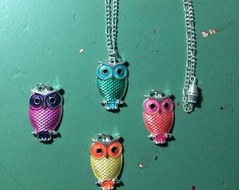 Owl Necklace (various colors)