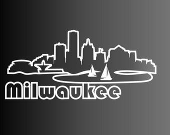 Milwaukee Skyline Outline - Vinyl Decal