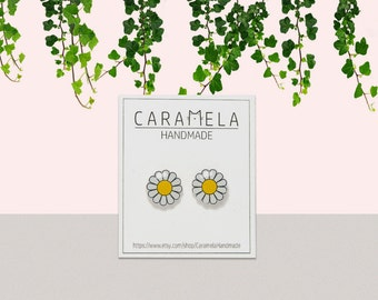 Marguerite Daisy Flowers Flowers Stud Earrings Daisy earrings Gift idea for her