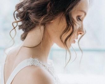 Wedding Headpiece, Pearl Hair Piece, Bridal Headpiece, Wedding Hairpiece, Crystals Hair Vine, Bridal Hairpiece, Wedding Halo, Wedding Wreath