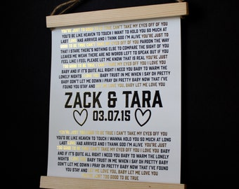 Personalized Wedding Gift - Song/Names/Date