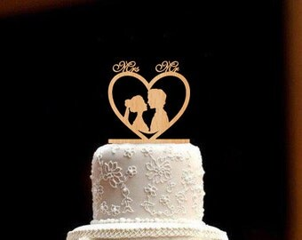 Wedding Cake Topper Rustic Wedding Topper Wood Wedding Cake Topper Personalized Wedding Topper bride and groom Mr and Mrs Cake Topper