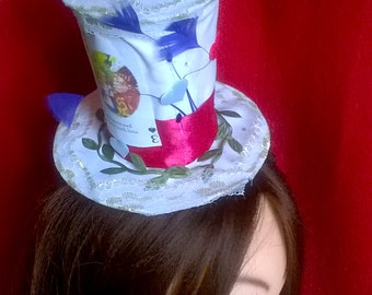 Mini hat Alice in Wonderland,Flamingos,Halloween,Christmas,Carnival,Valentine's Day, New Year,costume party,mini hats,mini cylinder