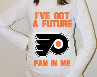 Philadelphia Flyers Baby Philadelphia Flyers Shirt Long Sleeved Hockey Baby Boy Maternity Shirt Baby Shower