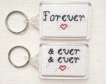 Wedding cross stitch etsy for Whats a good birthday gift for my boyfriend
