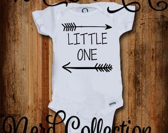Baby Onesie Arrows Little One Native American Indian Boho Tribal Baby Shower Gift Nursery Custom Baby Clothing Toddler T Shirt Shirt Gerber
